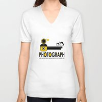 photograph V-neck T-shirts featuring PHOTOGRAPH by Ain Rusli