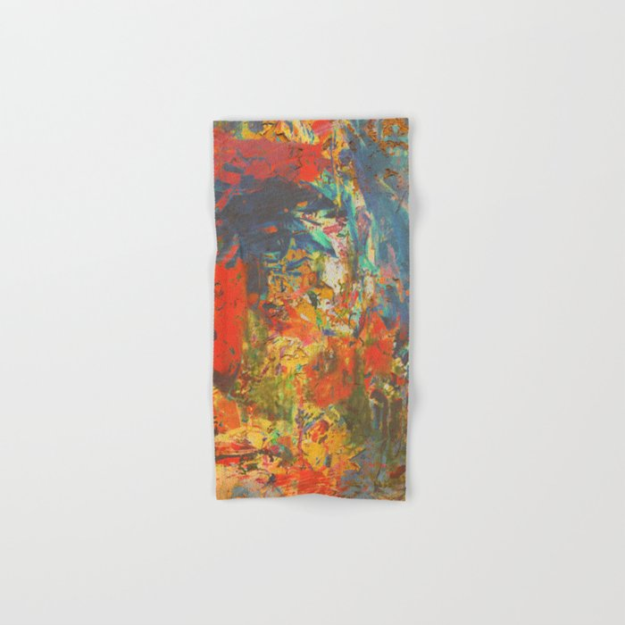 Blue and Red Wall Hand & Bath Towel