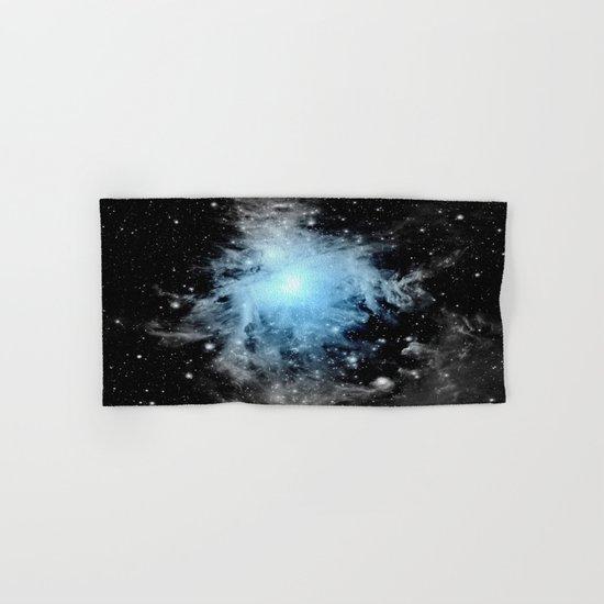 Orion nebULa Black White Blue Hand & Bath Towel