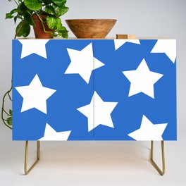 Cheerful Blue Star Print Credenza