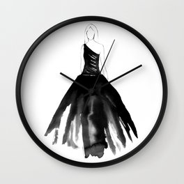 Back to Black Wall Clock
