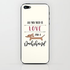 All You Need is Love and a Dachshund iPhone & iPod Skin