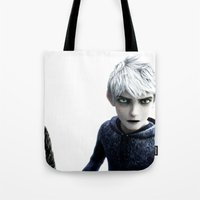 jack frost Tote Bags featuring Jack Frost  by LaurenMichelle