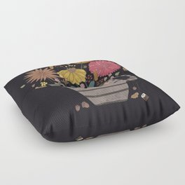 A cup of flowers Floor Pillow