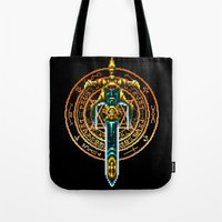 castlevania Tote Bags featuring Bloody Sword by Naavech Verro