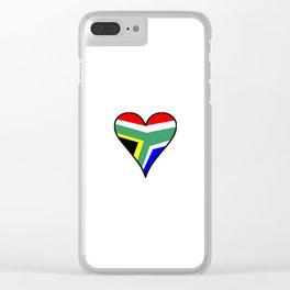 flag south africa 4,African,Afrikaans,Mandela,apartheid, Johannesburg,Soweto,Pretoria,Durban,Tembisa Clear iPhone Case
