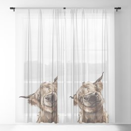 Highland Cow Sheer Curtain