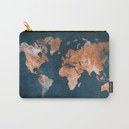 world map 15 Carry-All Pouch
