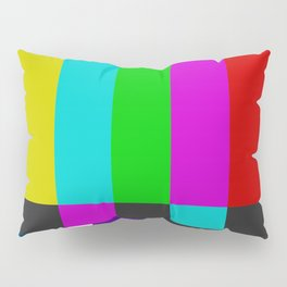 NTSC Color Bars Pillow Sham