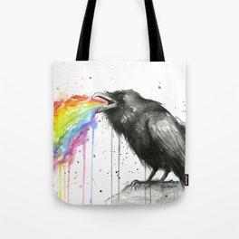 Raven Tastes the Rainbow Tote Bag