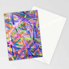 Triangle color splash Stationery Cards