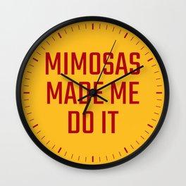 Mimosas Made Me Do It (Yellow & Crimson) Wall Clock