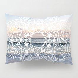 Flower shell mandala - shoreline Pillow Sham