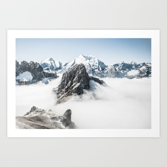 With My Head Above The Clouds Art Print