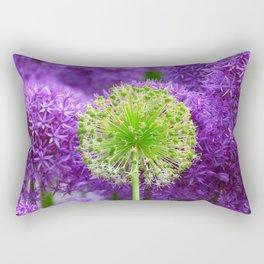 Violet green flower Rectangular Pillow
