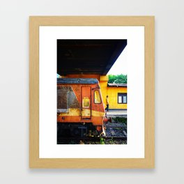 Shades of Curry Framed Art Print