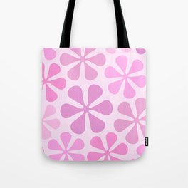 Abstract Flowers in Pinks Tote Bag