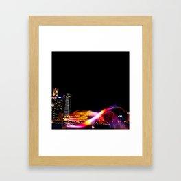 Laser Show Framed Art Print