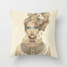 K of Clubs Throw Pillow
