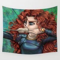 brave Wall Tapestries featuring Brave by Kimberly Castello