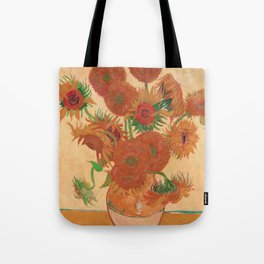 Still Life: Vase with Fourteen Sunflowers by Vincent van Gogh Tote Bag