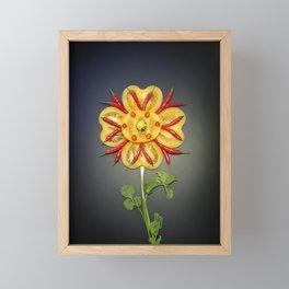 Chili Flower Framed Mini Art Print