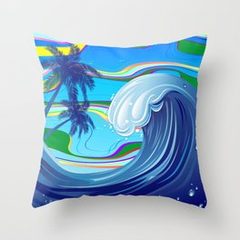 Sea Ocean big Wave Throw Pillow