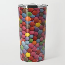 Smarties Milk Chocolate Candy Pattern Travel Mug