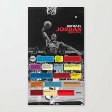 Michael Jordan's Spor Career. Canvas Print