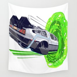 Back to The Future with The Rick Door Portal Wall Tapestry