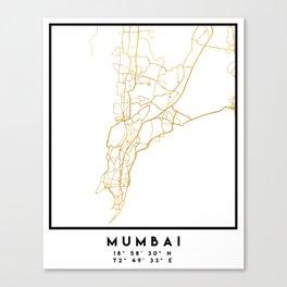 MUMBAI INDIA CITY STREET MAP ART Canvas Print