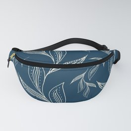 Indigo Foliage #society6 #pattern #indigo Fanny Pack