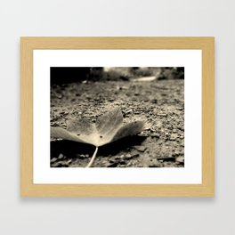 An as the leaf fell,you could hear the opera  Framed Art Print