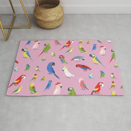 Parrots by Lili Chin Rug