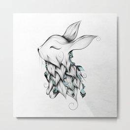 Poetic Rabbit Metal Print