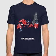 Transformers - Optimus Prime Navy SMALL Mens Fitted Tee
