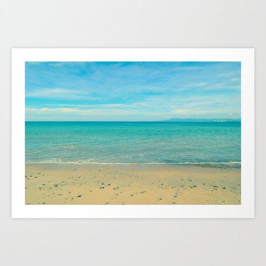 Sky, Sea, Sand Art Print