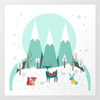 frozen Art Prints featuring Frozen by Find a Gift Now