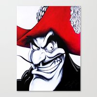 captain hook Canvas Prints featuring Hook by lapoart