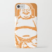 buddah iPhone & iPod Cases featuring Buddah Beats by ALLGOLD Creative