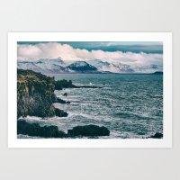 Iceland Ocean View of the Coast Art Print