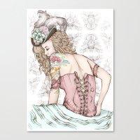 marie antoinette Canvas Prints featuring Marie Antoinette by Frances Louw