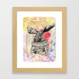 sir Elk Framed Art Print