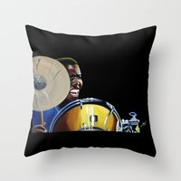 jazz Throw Pillows featuring Jazz by ink0023