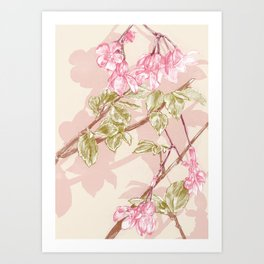 Flower Sketch Art Print