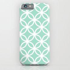 Mint Geometric Circles Slim Case iPhone 6s