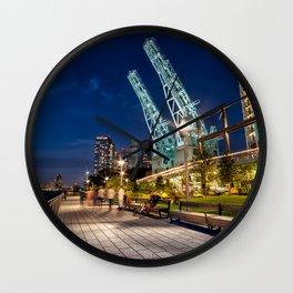 Night at Domino Park in Williamsburg Brooklyn 2019 Wall Clock