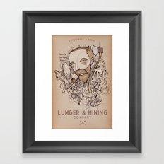 Lumber and Mining Framed Art Print