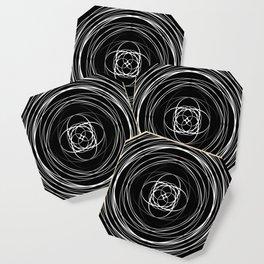 Black White Swirl Coaster