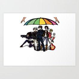 All under same umbrella Art Print